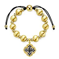 925 Silver Yellow Plated Souviens Beads Bracelet angle 1