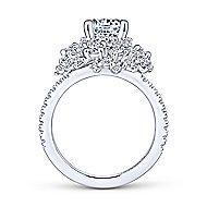 Ace 18k White Gold Round Halo Engagement Ring angle 2