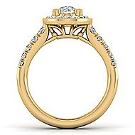 Addison 14k Yellow Gold Oval Halo Engagement Ring angle 2