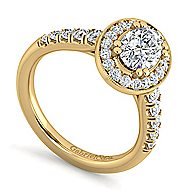 Addison 14k Yellow Gold Oval Halo Engagement Ring angle 3