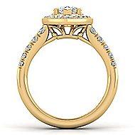 Addison 14k Yellow Gold Pear Shape Halo Engagement Ring angle 2