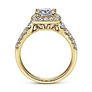 Addison 14k Yellow Gold Princess Cut Halo Engagement Ring angle 2