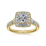 Addison 14k Yellow Gold Princess Cut Halo Engagement Ring angle 5