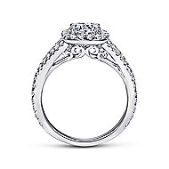 Admire 18k White Gold Round Halo Engagement Ring angle 2