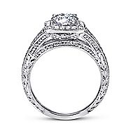 Agatha 14k White Gold Round Halo Engagement Ring angle 2