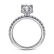 Alina 14k White Gold Round Straight Engagement Ring