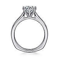 Allie 14k White Gold Round Solitaire Engagement Ring angle 2