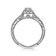 Alona 14k White Gold Round Halo Engagement Ring angle 2