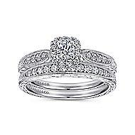 Alona 14k White Gold Round Halo Engagement Ring angle 4