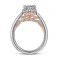 Amazonia 14k White And Rose Gold Round Straight Engagement Ring