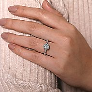 Amazonia 14k White And Rose Gold Round Straight Engagement Ring angle 6