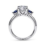 Amerie 14k White Gold Round 3 Stones Engagement Ring angle 2