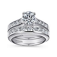Anderson 14k White Gold Round Straight Engagement Ring angle 4