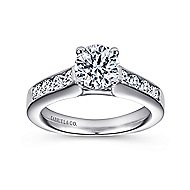 Anderson 14k White Gold Round Straight Engagement Ring angle 5