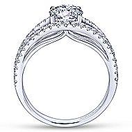 Andrina 14k White Gold Round Split Shank Engagement Ring angle 2