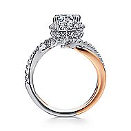 Andromeda 14k White And Rose Gold Round Halo Engagement Ring angle 2
