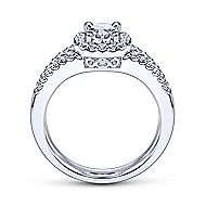 Angelene 14k White Gold Oval Halo Engagement Ring angle 2