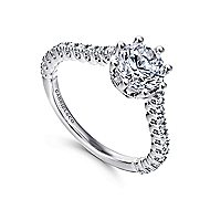 Angelina 14k White Gold Round Straight Engagement Ring angle 3