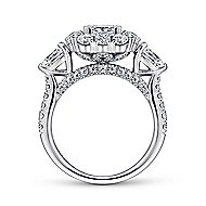 Antonella 14k White Gold Princess Cut Double Halo Engagement Ring