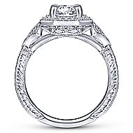 Aramis 14k White Gold Round Halo Engagement Ring