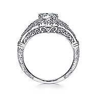 Armada Platinum Round Halo Engagement Ring