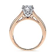 Aubrey 14k White And Rose Gold Round Straight Engagement Ring angle 2