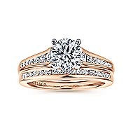 Aubrey 14k White And Rose Gold Round Straight Engagement Ring angle 4