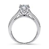 Aubrey 14k White Gold Round Straight Engagement Ring angle 2