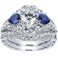 Austria Platinum Round Halo Engagement Ring