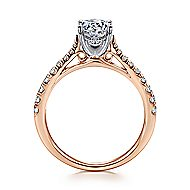 Avery 14k White And Rose Gold Round Straight Engagement Ring angle 2