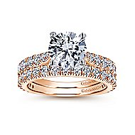 Avery 14k White And Rose Gold Round Straight Engagement Ring angle 4
