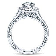 Ballantine 14k White Gold Oval Halo Engagement Ring angle 2