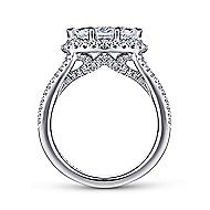 Bancroft 14k White Gold Marquise  Halo Engagement Ring