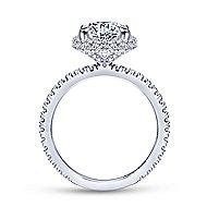 Bardot 18k White Gold Round Double Halo Engagement Ring angle 2