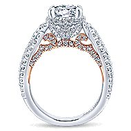 Bea 18k White And Rose Gold Round Halo Engagement Ring angle 2
