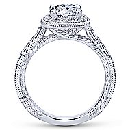 Beaufort 14k White Gold Round Halo Engagement Ring angle 2