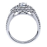 Beyond 14k White Gold Round Halo Engagement Ring angle 2