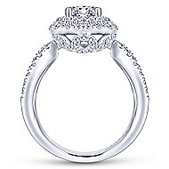 Bianca 18k White Gold Round Double Halo Engagement Ring