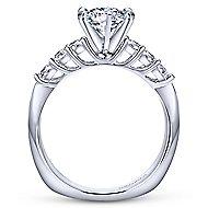 Billie 14k White Gold Round Straight Engagement Ring angle 2