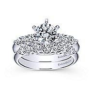 Billie 14k White Gold Round Straight Engagement Ring angle 4