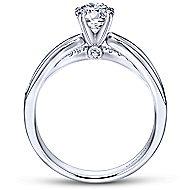 Birdie 14k White Gold Round Split Shank Engagement Ring angle 2