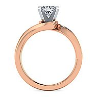 Blair 14k White And Rose Gold Round Solitaire Engagement Ring