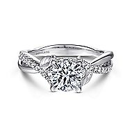 Blakely 14k White Gold Round Twisted Engagement Ring