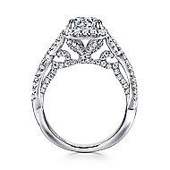 Blanche Platinum Round Halo Engagement Ring