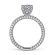 Bobbi 14k White Gold Round Solitaire Engagement Ring angle 2
