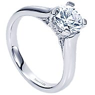 Bradshaw 18k White Gold Round Solitaire Engagement Ring
