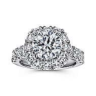 Brandy 14k White Gold Round Halo Engagement Ring angle 5