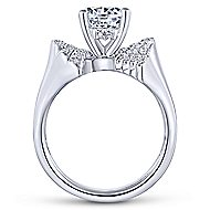 Breeze 14k White Gold Round Bypass Engagement Ring angle 2