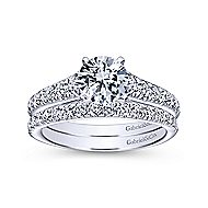 Bridget 14k White Gold Round Straight Engagement Ring angle 4