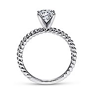 Briony 14k White Gold Round Straight Engagement Ring angle 2